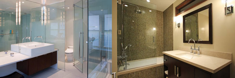 one of our custom shower enclosures in Orland park